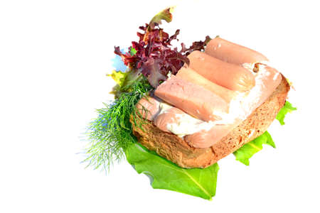 Sandwich with sausage Stock Photo