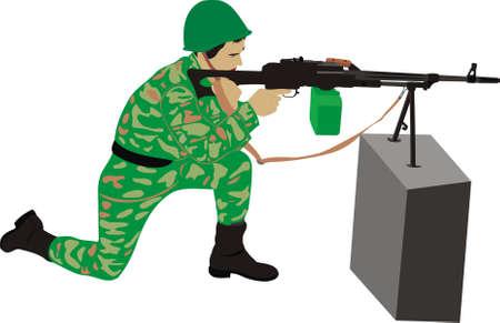 marksman: The marksman with a machine gun