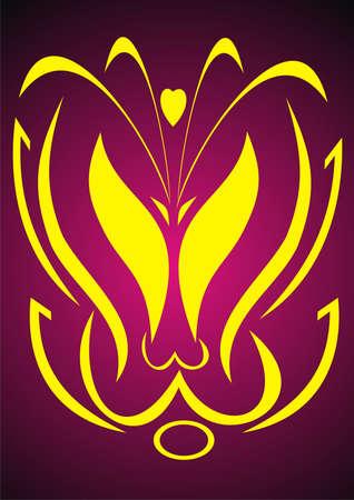 An abstract tulip Vector