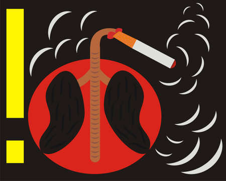 cigaret: Bad habit Illustration