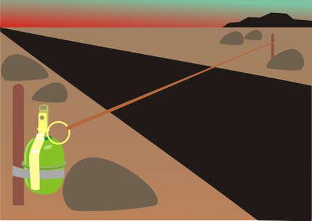 grenade: Dangerous grenade Illustration