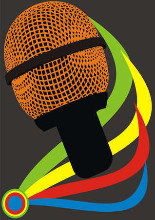 necessity: Abstract microphone Illustration