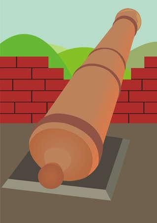 serf: Serf d'artillerie Illustration