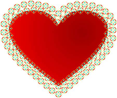 the enamoured: Enamoured heart