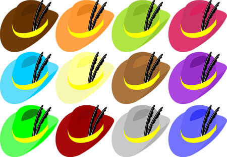 hat with feathers Stock Vector - 14164325