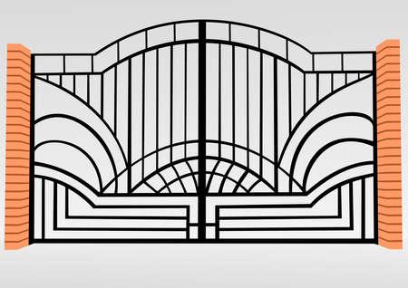 Iron fence Illustration