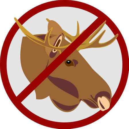 Hunting for an elk Vector