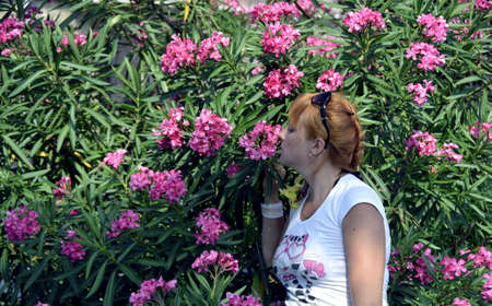The girl in flowers Stock Photo - 14919832