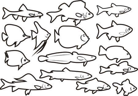 Small fishes Stock Vector - 16245218