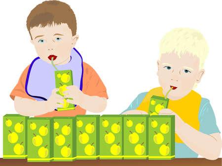 tubule: Children drink juice