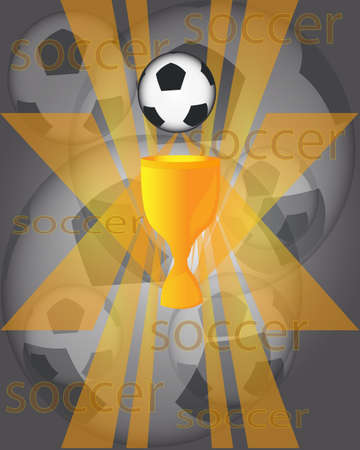 Football cup Иллюстрация
