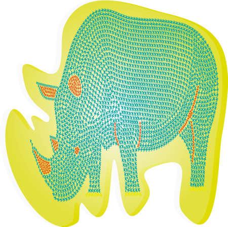 Abstract rhinoceros