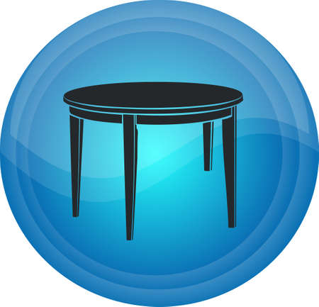 The button with the table image Illustration