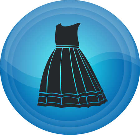 The button with clothes Illustration