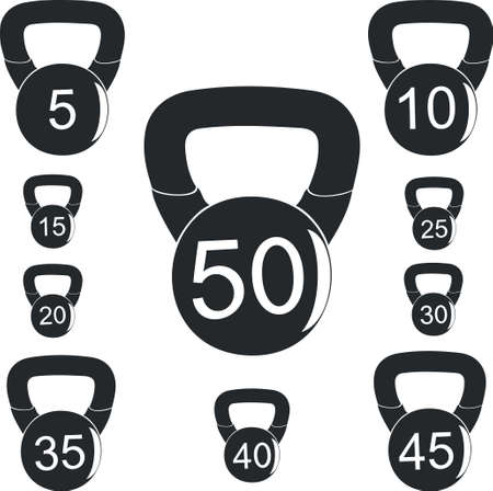 Weights for sports activities Illustration