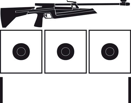 Rifle and targets for biathlon Stock Vector - 25663081
