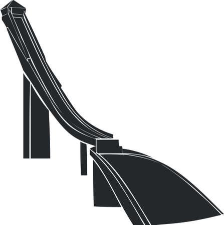 Springboard for jumps on skis Illustration