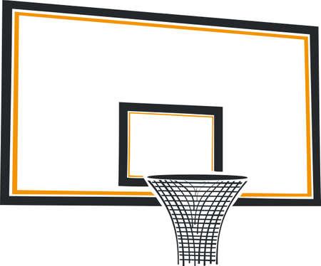 Cesta do basquetebol Ilustração
