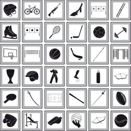 springboard: Sports icons Illustration