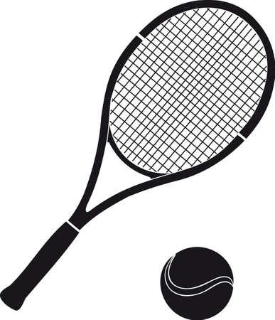 tennis racket: Stock de tenis Vectores