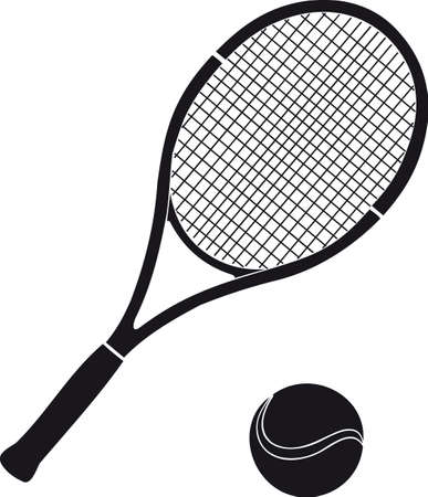 tennis racket: Stock for tennis