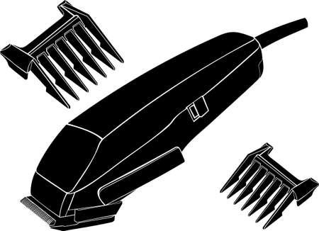 A máquina para um penteado