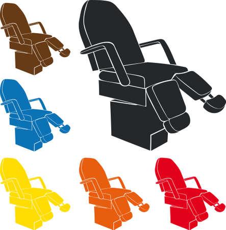 Pedicure chair Illustration
