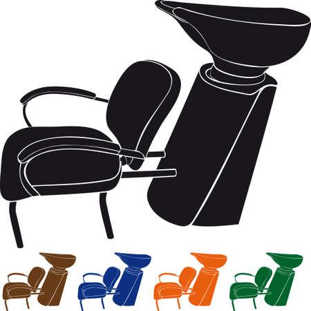 Washbasin for hairdressers