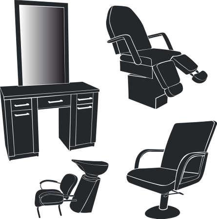 Furniture for hairdressing salons Illustration