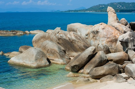 Hin Ta Hin Yai (Grandfather  and Grandmother) is a famous symbolic of Koh Samui Island, Thailand.