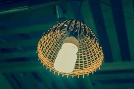 Beautiful wood lamp by handmade  design for decorate.