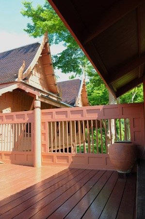 Classic style Thai wooden house in Thailand.