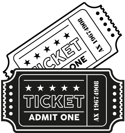 vintage old ticket vector illustration