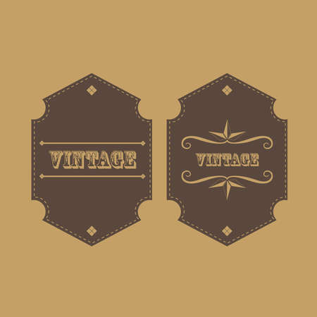 retro vintage label