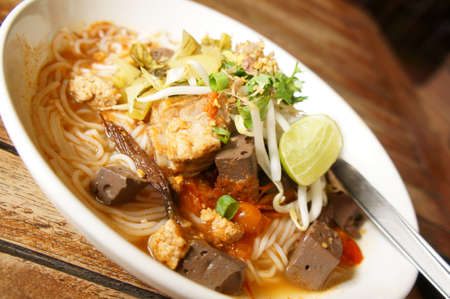 Thai rice noodle, A famous food of Northern of Thailand