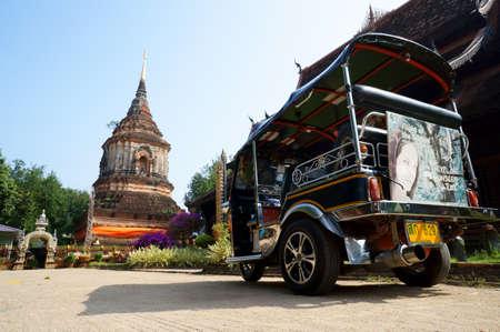 Tuk Tuk in Temple, Chiang Mai Thailand