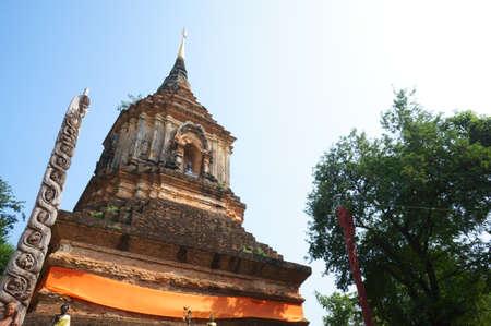 Pagoda in Wat Lok Molee Temple Chiangmai, Thailand