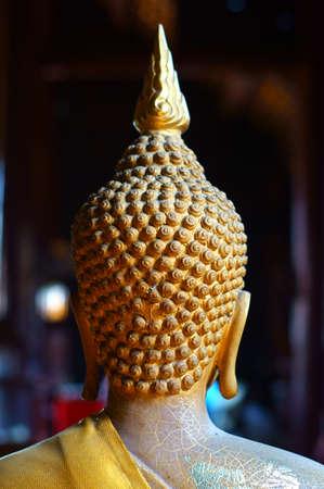 Buddha s head from back, chiangmai - thailand