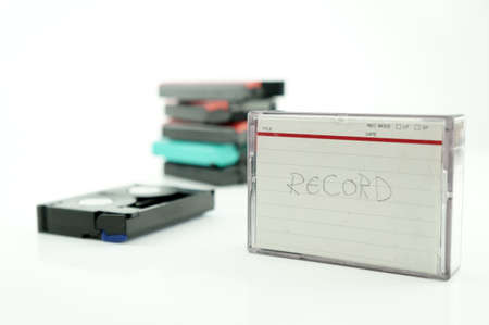 vcr: Old VCR tape record