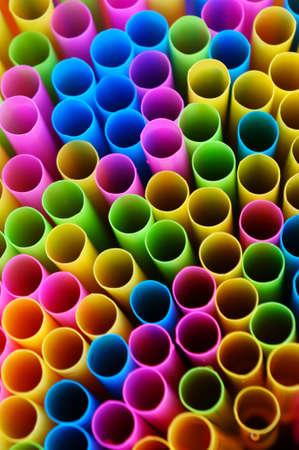 Closeup of Color Straws