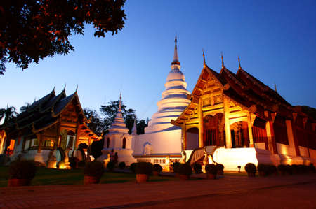 Phra Singh temple of the old city center of Chiang Mai