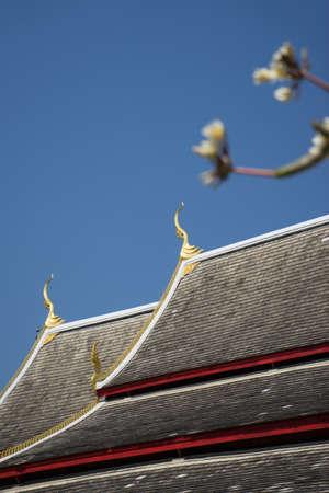 Chiang Man Temple , Chiang Mai, Thailand Stock Photo
