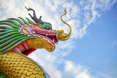 Dragon at Huay Pla Kung Temple, Chiang Rai , Thailand Stock Photo