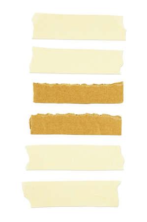 Masking tape on white background.