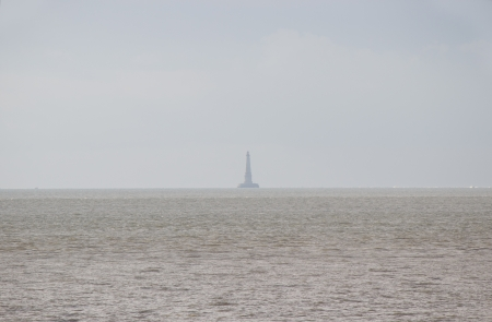 Famous french  Cordouan  lighthouse in the sea during the fog Stock Photo - 16876007