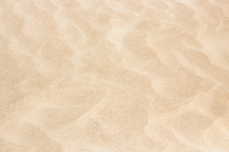 Clear texture of beige ripple sand Stock Photo