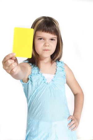 trespass: A young girl books someone. All isolated on white background.