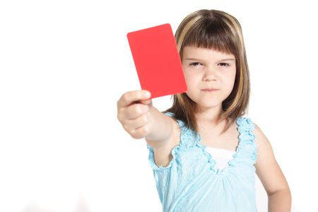 fairplay: A young girl books someone. All isolated on white background.