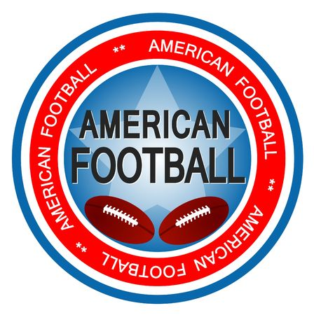 An illustrated badge in colors of the United states of America symbolizing American Football. photo