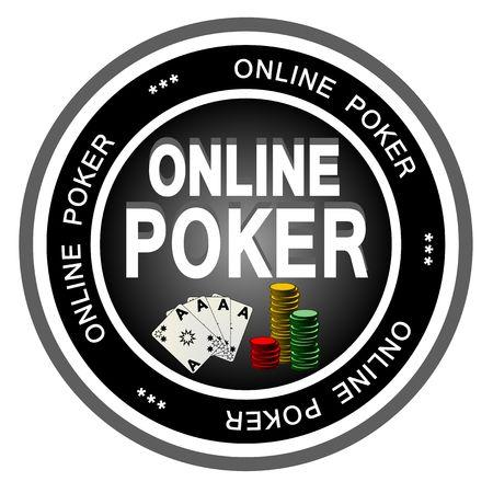 An illustrated dark badge symbolizing classical online poker. photo